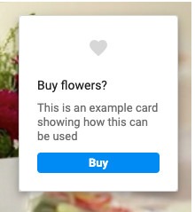 Example card during a video