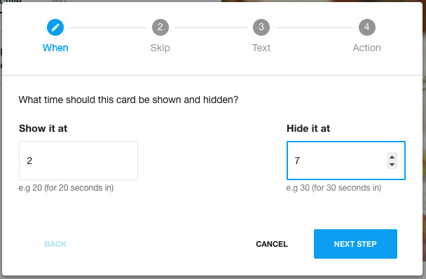 Add a card using the video CMS